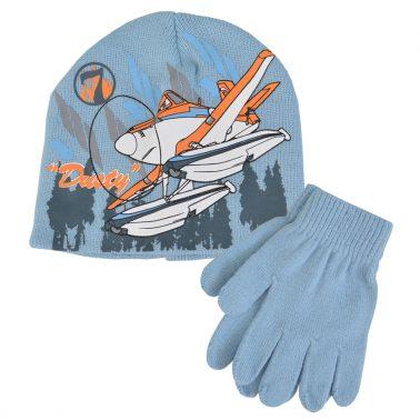 Детска шапка с ръкавици с щампа с Дъсти от Самолетите синя