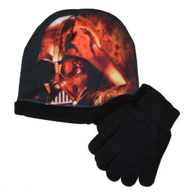 Шапка ''Междузвездни войни'' в комплект с ръкавици черна