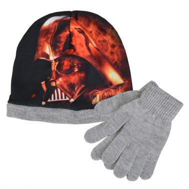 Шапка ''Междузвездни войни'' в комплект с ръкавици сив