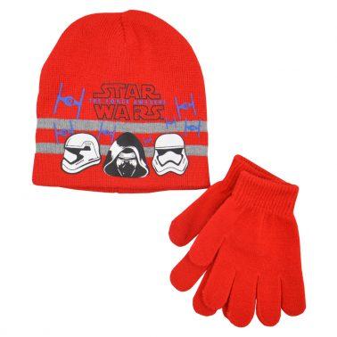 Комплект шапка и ръкавици Star Wars червен