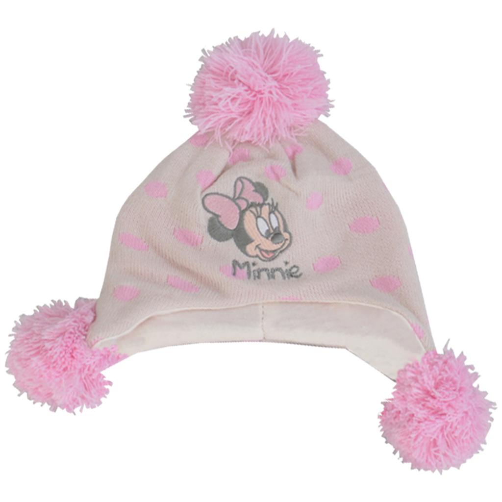 Компект шапка и шал с Мини Маус бял