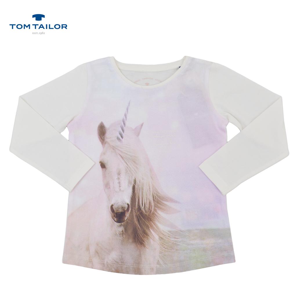 Блуза с еднорог от Tom Tailor екрю
