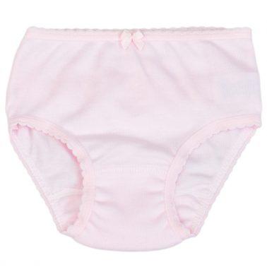 Детски бикини с къдрички в розово