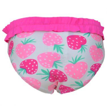 Бебешки бански долнище на ягоди с къдрички циклама