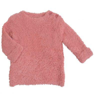 Пухкав бебешки пуловер розов