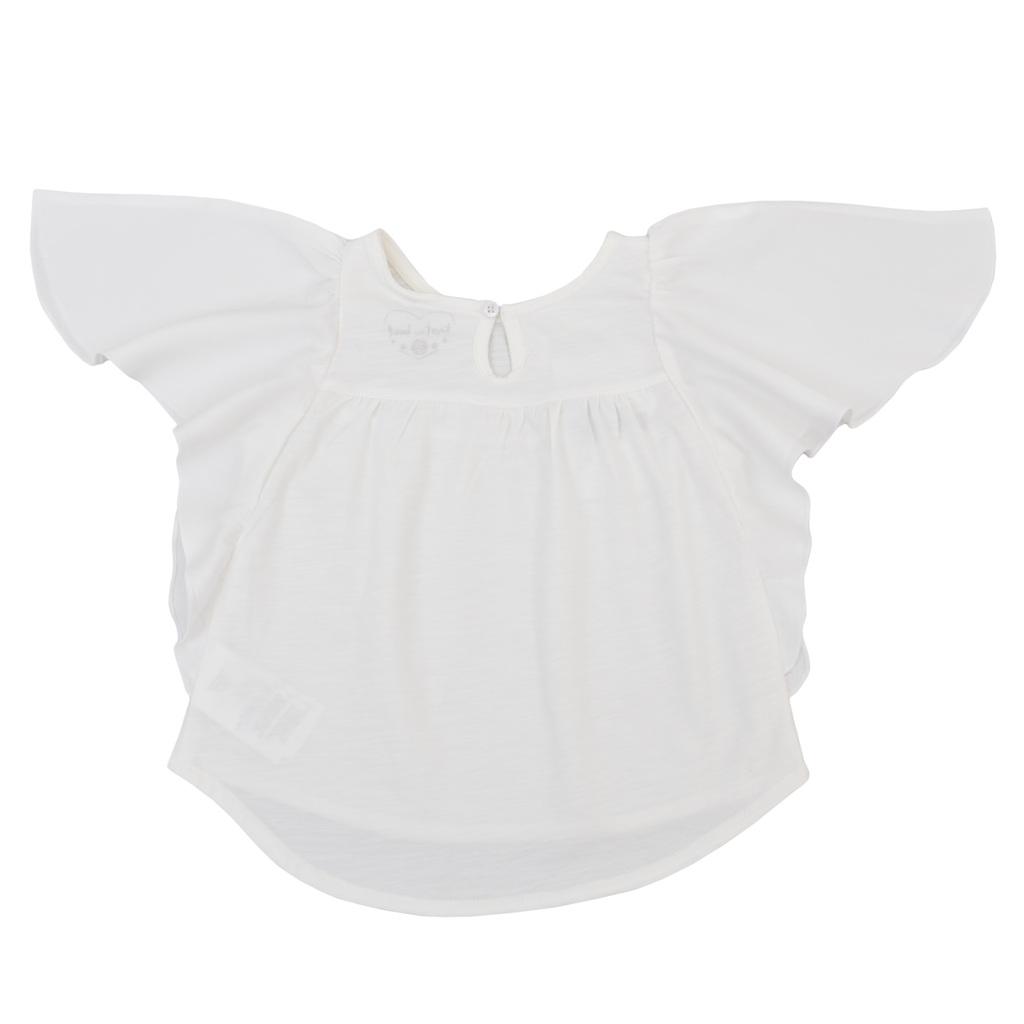 """Модерна блуза """"пеперуда"""" с камъчета бяла"""