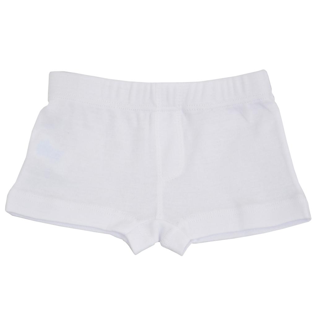 Детски памучни боксерки бяло