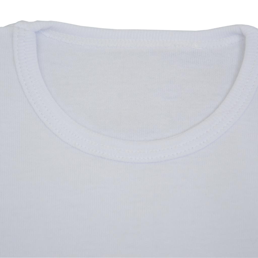 Рипсена тениска изчистена бяла