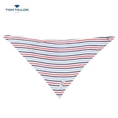 Кърпа-бандана на релефни райета Tom Tailor бяла