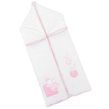 Комплект за изписване от 7 части плюшен с порт бебе розов