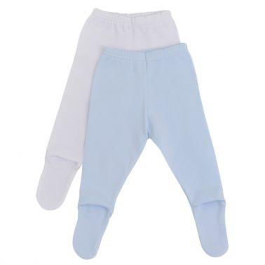 Памучни бебешки ританки 2 броя в пакет синьо