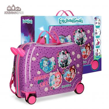 "Практичен куфар-возилка от колекция ""EnchanTimals"" в кутия"