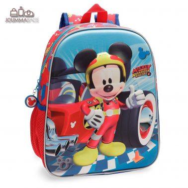 """Раница с външен джоб и 3D декорация """"Mickey"""""""