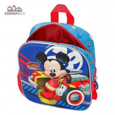 """Малка раница с външен джоб и 3D декорация """"Mickey"""""""