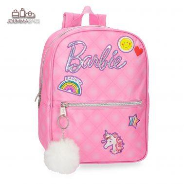 """Раница с бродерии и ключодържател с пухче от колекция """"Barbie"""""""