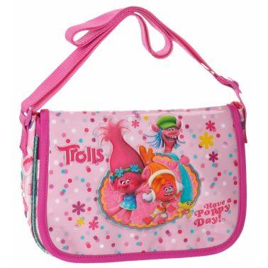 Детска правоъгълна чанта с Тролчетата с дълга дръжка