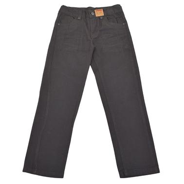 Изчистен памучен панталон за есента сив