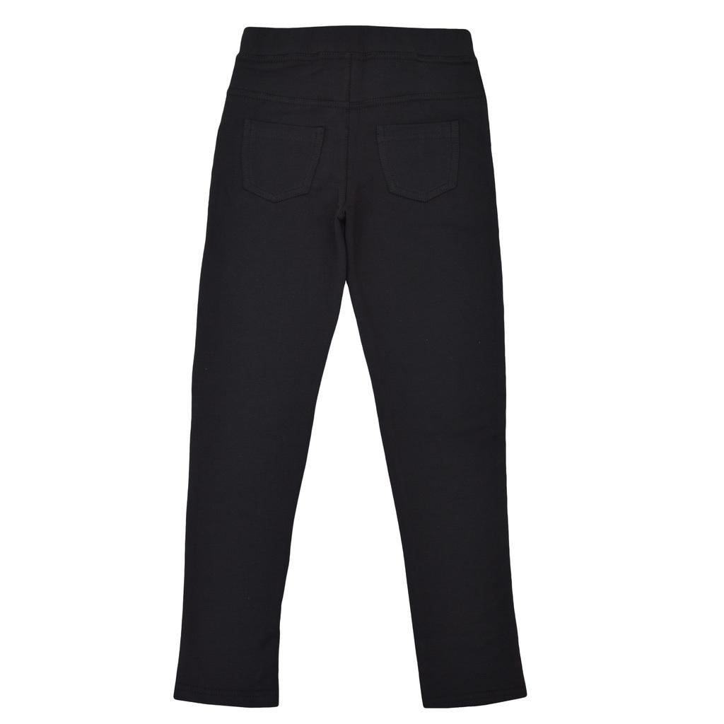 Елегантен клин-панталон с джобове черен