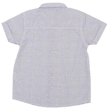 Спортно-елегантна риза с къс ръкав на котвички червена