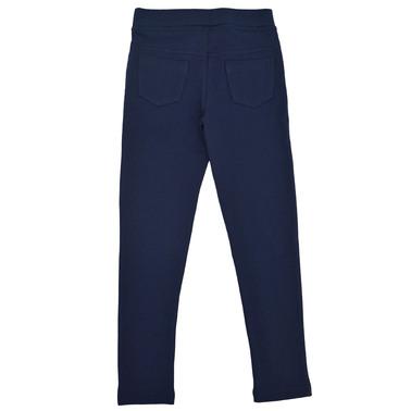 Клин-панталон с прорези и брокат