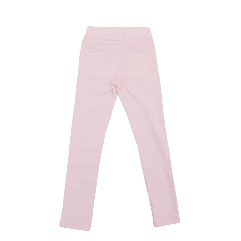 Панталон тип клин с пискюли бледо розов