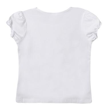 Блуза Newness с буфан ръкав и 3D цветя от тюл в бяло