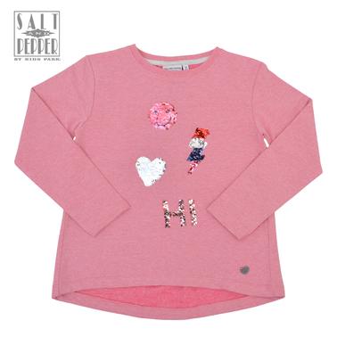 Блуза с лека вата и двуцветни пайети от ''Salt and pepper'' розова
