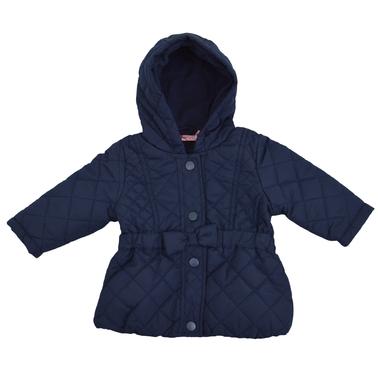 Бебешко вталено яке с подплата от полар тъмно синьо