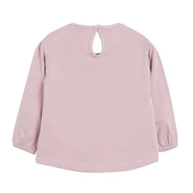 Блузка Newness със зайче от пайети розова