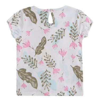 Блузка къс ръкав с флорален десен от Newness в бяло
