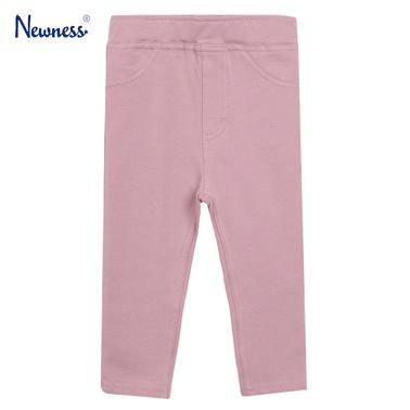 Едноцветен панталон-клин с джобчета от Newness розов