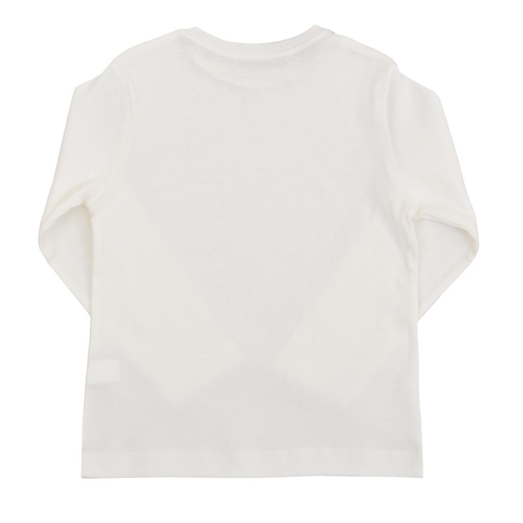 Детска рипсена блуза с лого ТОЧИЦИ екрю