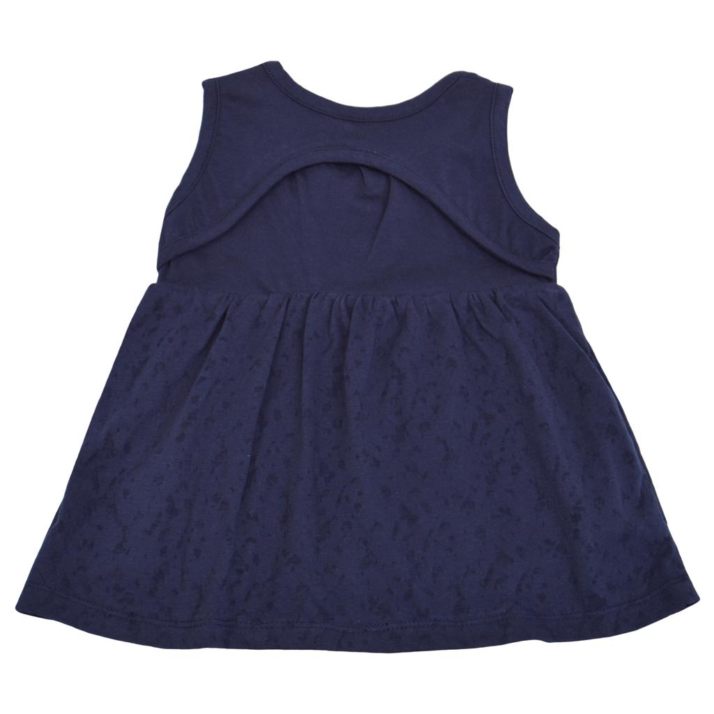 Лятна туника за бебета тъмно синя