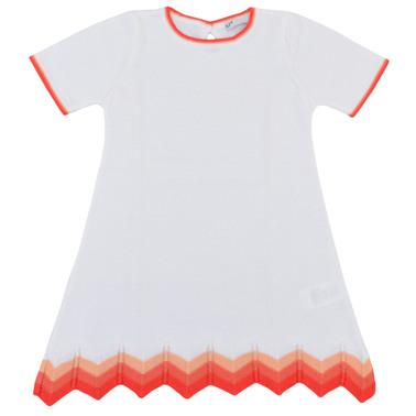 Комплект рокля къс ръкав с жилетка фино плетиво бял