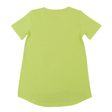 Туника с къс ръкав и ефектна щампа с пера зелена