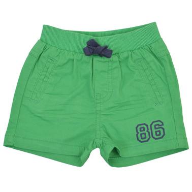 Къси панталонки от плат с ластик и връзка зелени