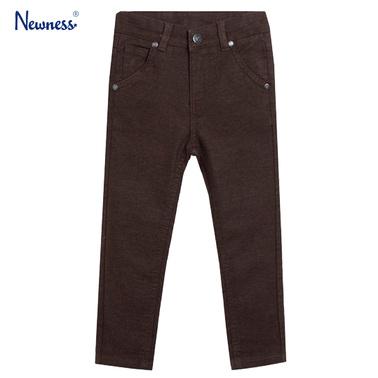 Дънков панталон с прибран крачол и джобове от Newness кафяв