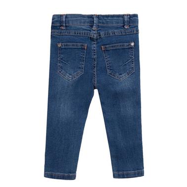Модерни дънки с разнищен ефект от Newness сини