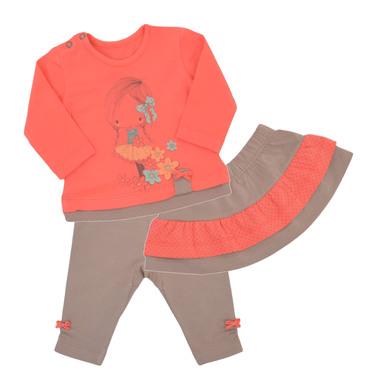 Кокетен комплект с блуза, пола и клин