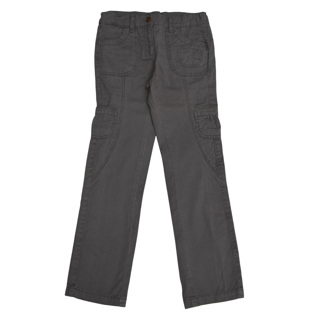 Панталон с джобове прав сив