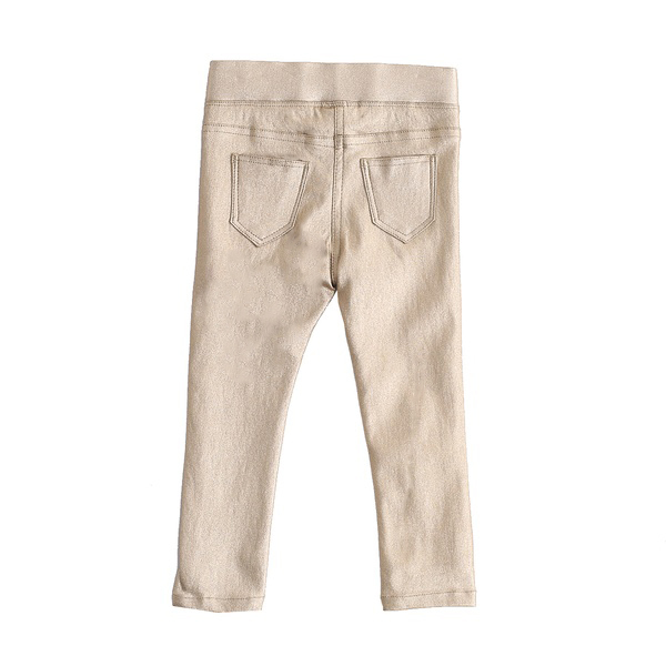 Атрактивен златист панталон-клин Newness бежов