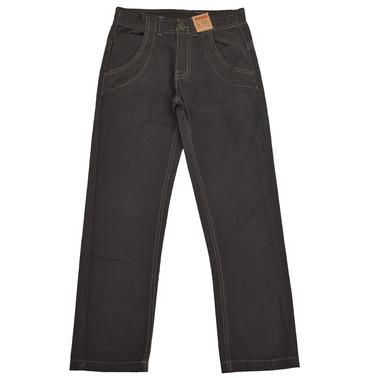 Изчистен есенен панталон за момче тъмно кафяв