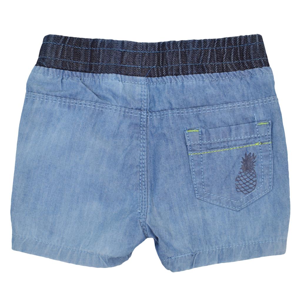 Дънкови къси панталонки с ананас сини