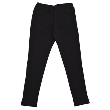 Спортно-елегантен панталон с копчета черен
