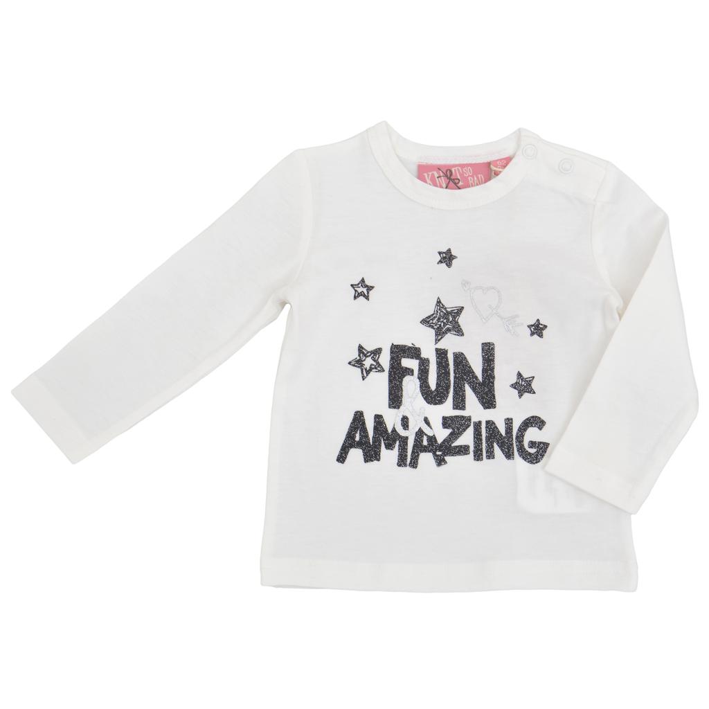 Бебешка блуза ''Fun and Amazing'' бяла