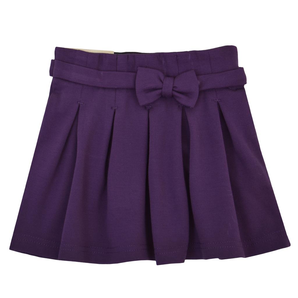 Детска пола с плохи лилава