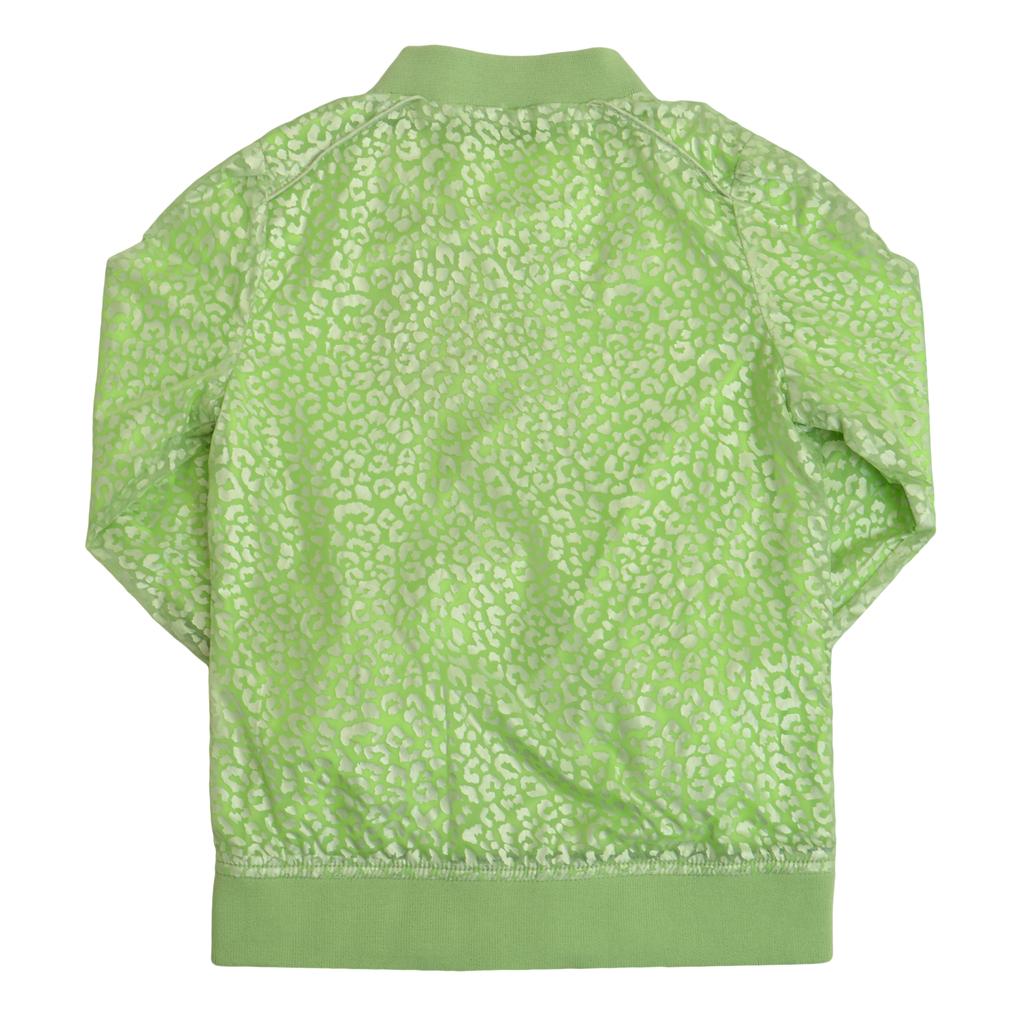 Яке в ярък цвят с леопардова щампа зелено
