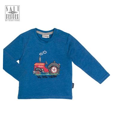 Блузка с щампа на тракторче от ''Salt and pepper'' синя