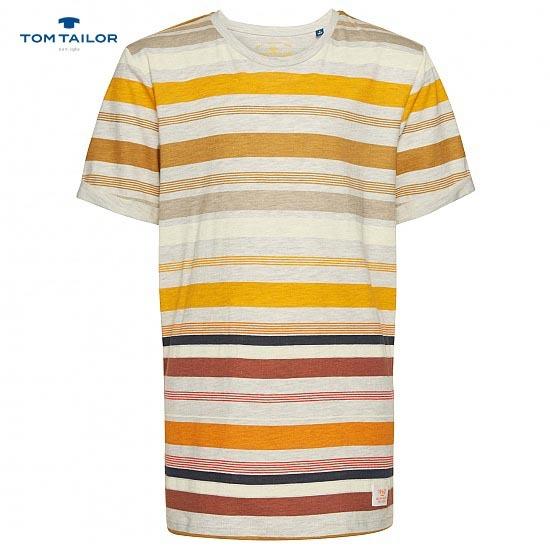 Детска тениска в райе за момче Tom Tailor жълта