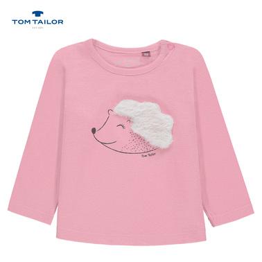Блуза Tom Tailor с дълъг ръкав и таралежче розова